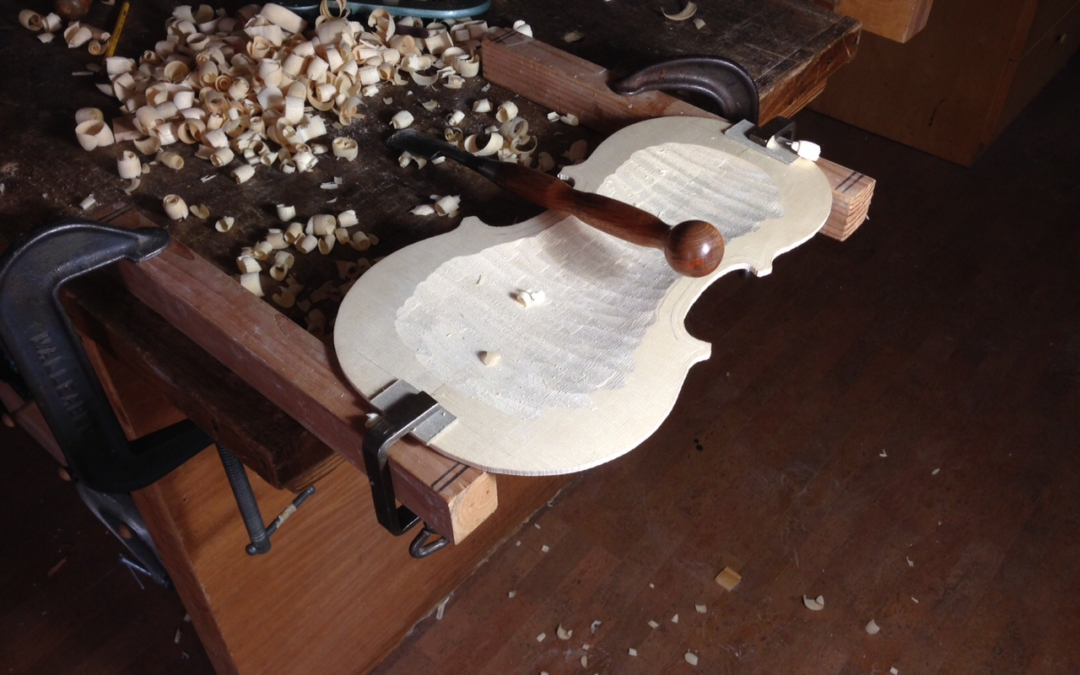 Simple violin plate carving jig