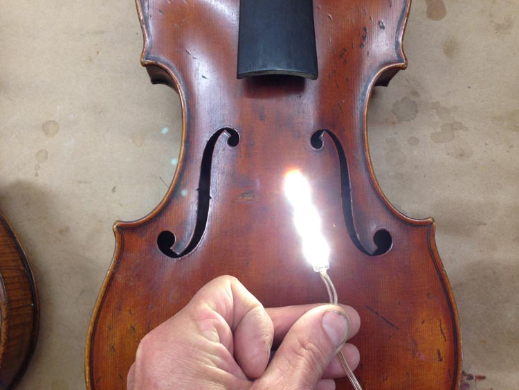 LED's for violin makers – four applications