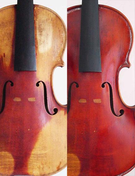 Heberlein, missing-varnish restoration